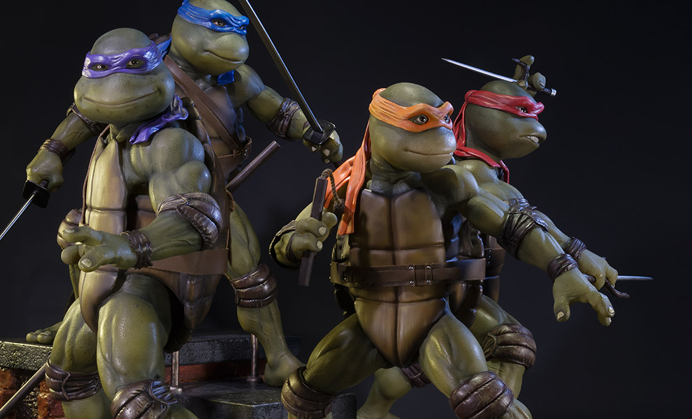 Gallery Feature Image of Teenage Mutant Ninja Turtles Polystone Statue - Click to open image gallery