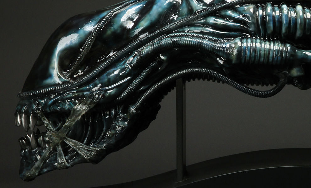 Gallery Feature Image of Alien Warrior Blue Edition Life-Size Head Prop Replica - Click to open image gallery