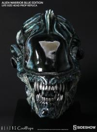 Gallery Image of Alien Warrior Blue Edition Life-Size Head Prop Replica