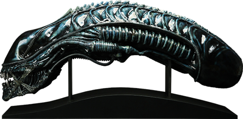CoolProps Alien Warrior Blue Edition Life-Size Head Prop Replica