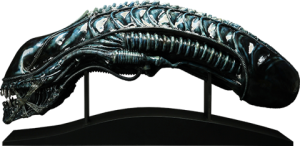 Alien Warrior Blue Edition Life-Size Head Prop Replica
