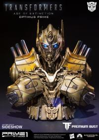 Gallery Image of Optimus Prime Gold Version Bust