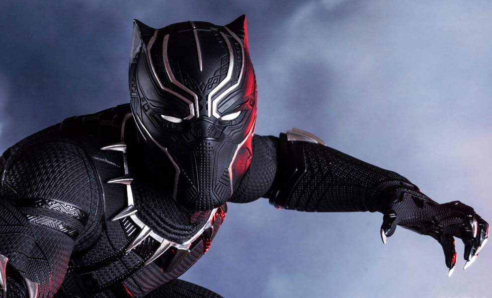 Gallery Feature Image of Black Panther Polystone Statue - Click to open image gallery