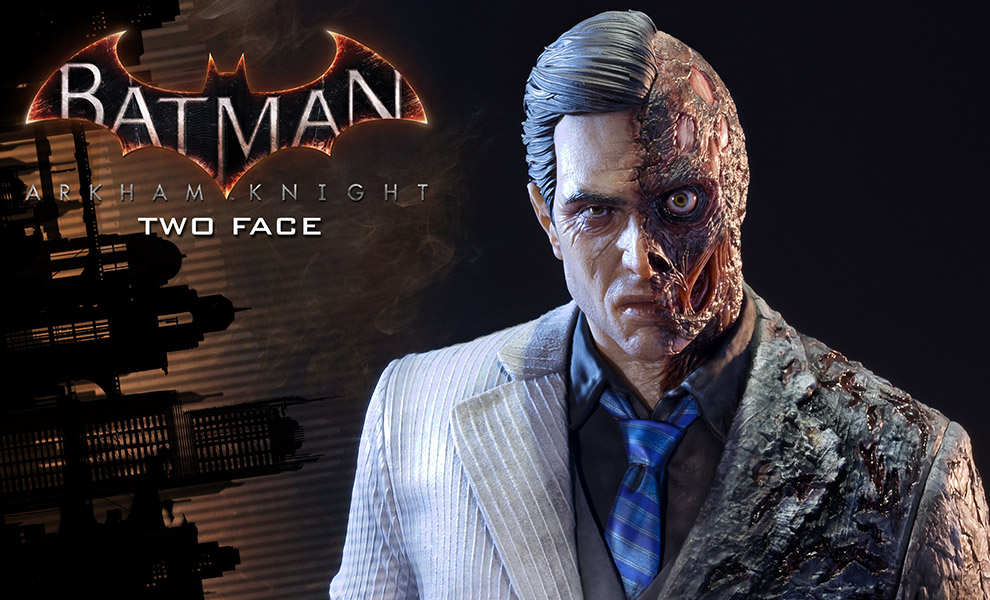 Gallery Feature Image of Two-Face Polystone Statue - Click to open image gallery
