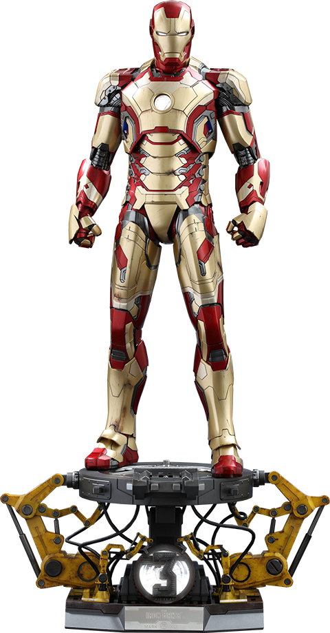 Hot Toys Iron Man Mark XLII Deluxe Version Quarter Scale Figure