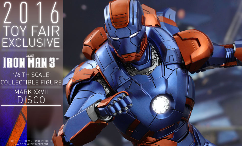 Gallery Feature Image of Iron Man Mark XXVII - Disco Sixth Scale Figure - Click to open image gallery