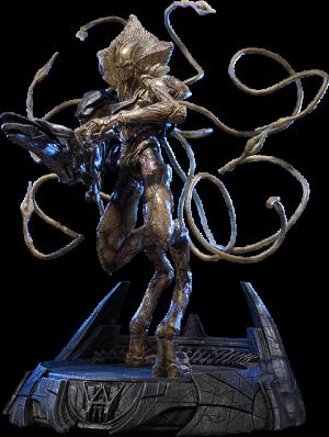 Alien Soldier Polystone Statue