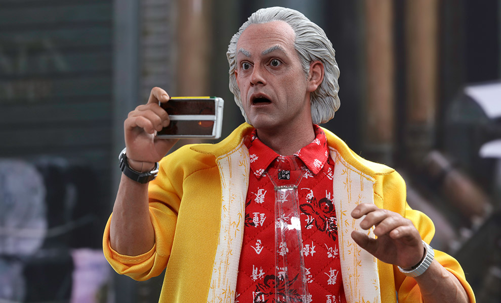 Gallery Feature Image of Dr. Emmett Brown Sixth Scale Figure - Click to open image gallery