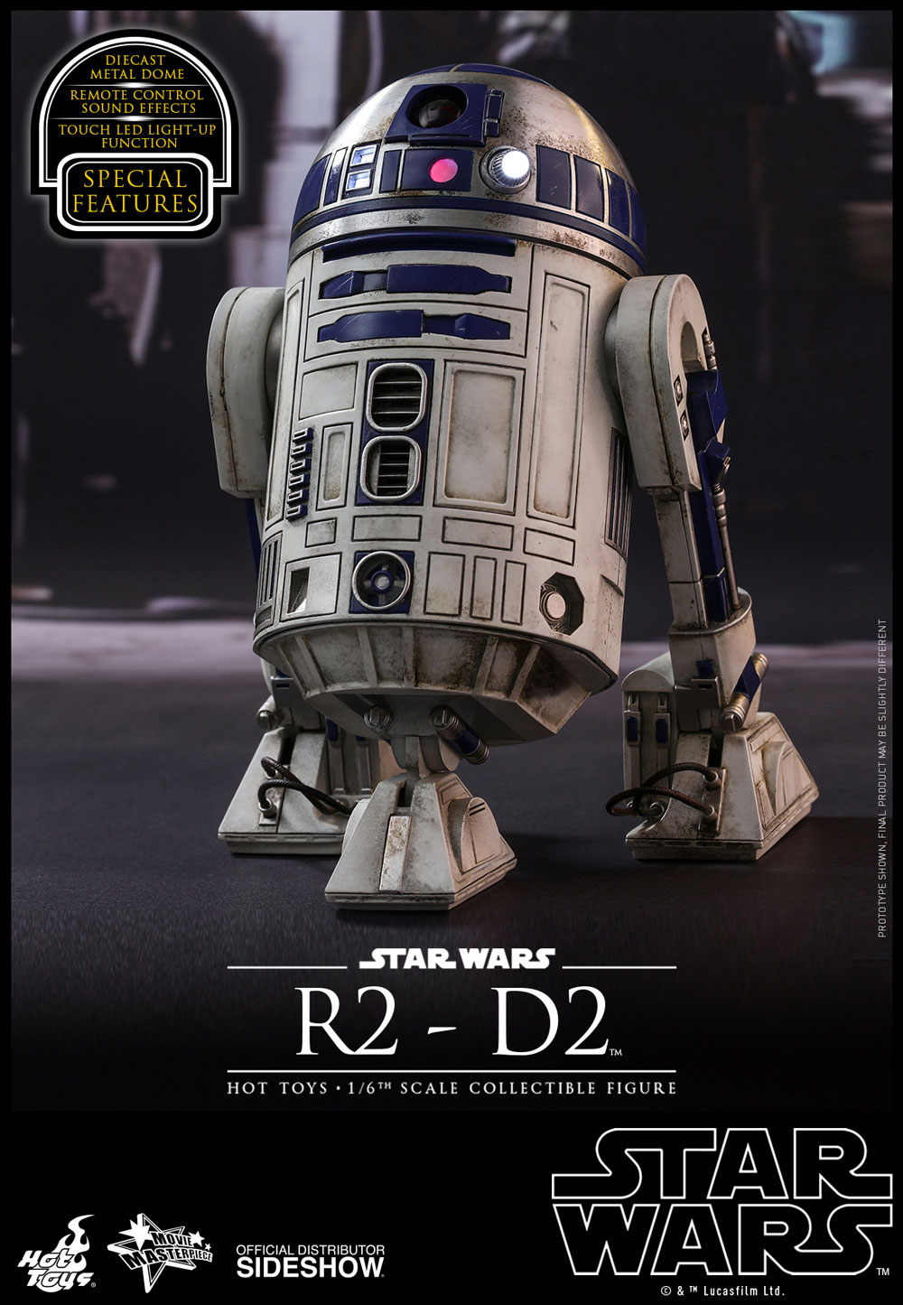 HOT TOYS MMS408 STAR WARS THE FORCE AWAKENS R2-D2 MASTERPIECE 1//6 ACTION FIGURE