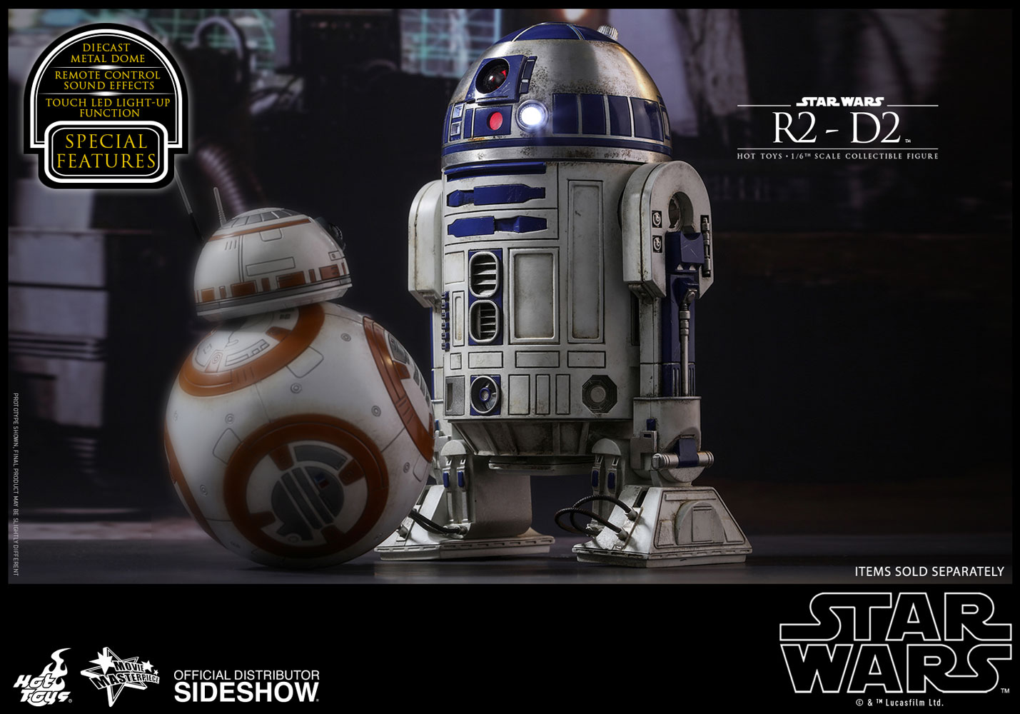 Genuine Hot Toys star wars C-3PO R2-D2 Cosbaby toy figure The Force Awakens