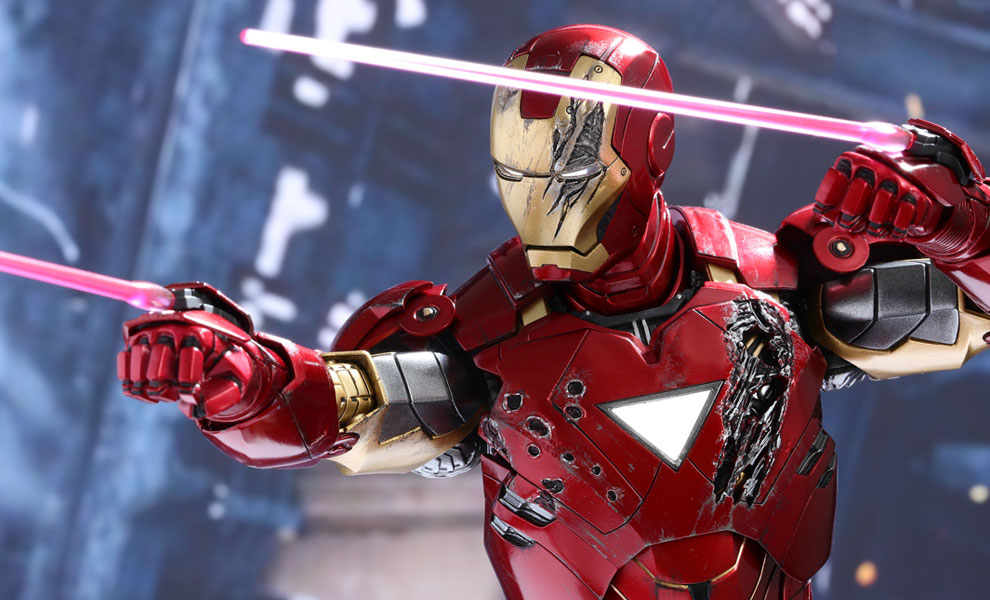 Gallery Feature Image of Iron Man Mark VI Sixth Scale Figure - Click to open image gallery