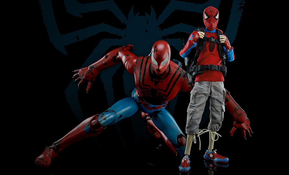 Gallery Feature Image of Peter Parker and Spider-man Sixth Scale Figure - Click to open image gallery