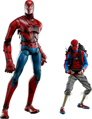 Peter Parker and Spider-man Sixth Scale Figure
