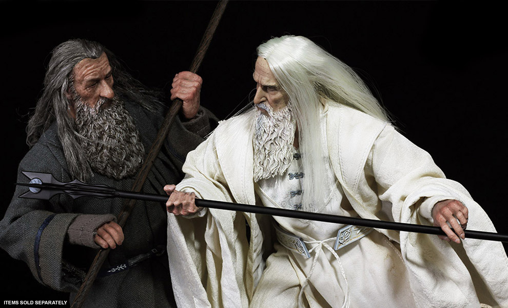 Gallery Feature Image of Saruman the White Memorial Slim Version Sixth Scale Figure - Click to open image gallery