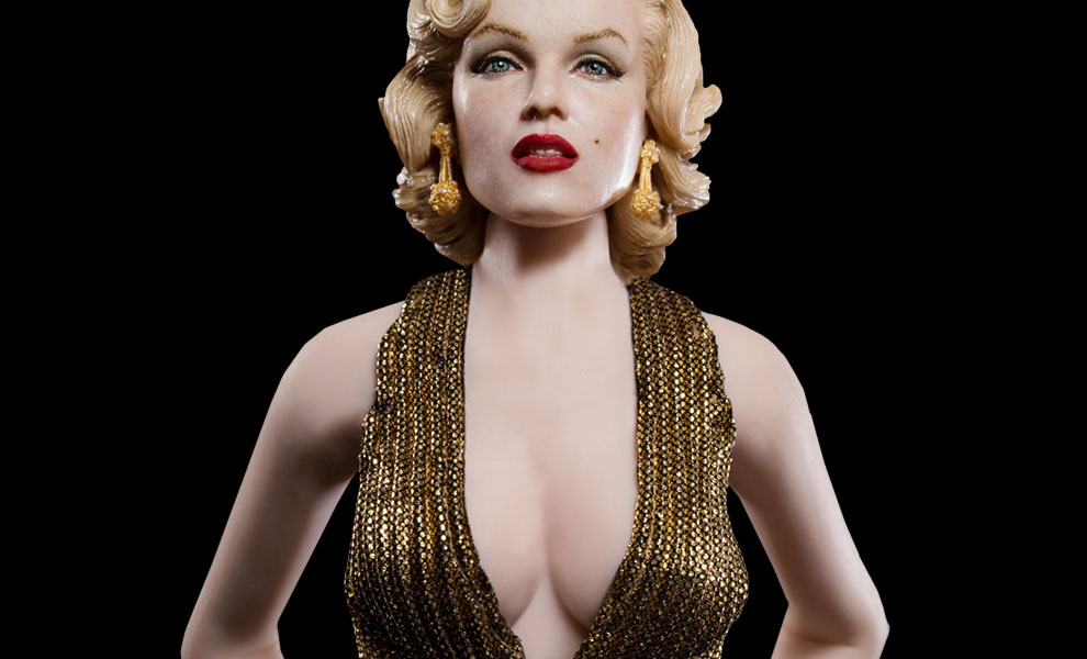 Gallery Feature Image of Marilyn Monroe as Lorelei Lee Gold Dress Version Sixth Scale Figure - Click to open image gallery