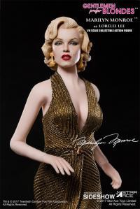 Gallery Image of Marilyn Monroe as Lorelei Lee Gold Dress Version Sixth Scale Figure