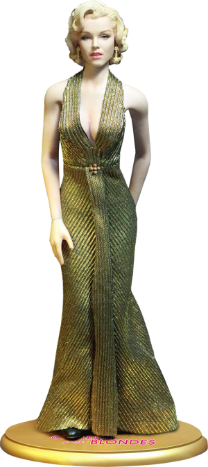Marilyn Monroe as Lorelei Lee Gold Dress Version Sixth Scale Figure