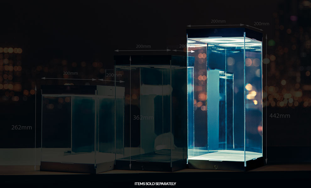 Gallery Feature Image of Master Revolving House Black Display Case - Click to open image gallery