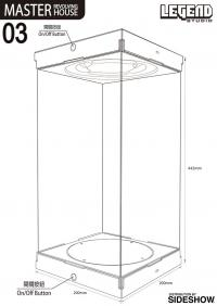 Gallery Image of Master Revolving House Black Display Case