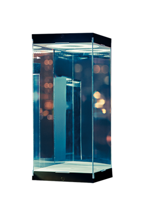 Master Revolving House Black Display Case