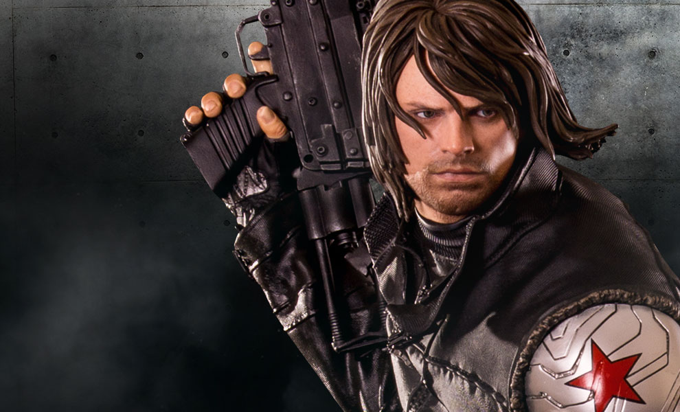 Gallery Feature Image of Winter Soldier Polystone Statue - Click to open image gallery