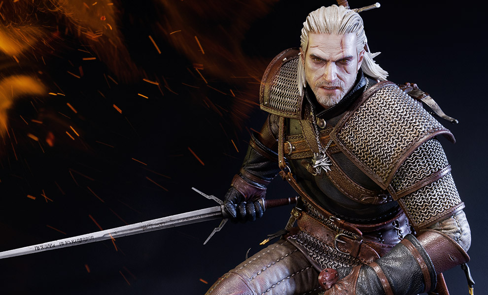 Gallery Feature Image of Geralt of Rivia Polystone Statue - Click to open image gallery