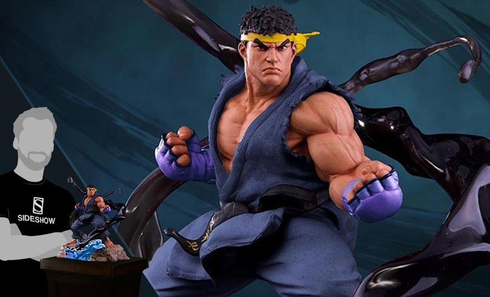 Gallery Feature Image of Ryu V-Trigger Player 2 Blue Statue - Click to open image gallery