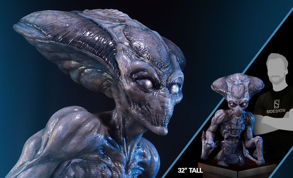 Gallery Feature Image of Alien Life-Size Bust - Click to open image gallery