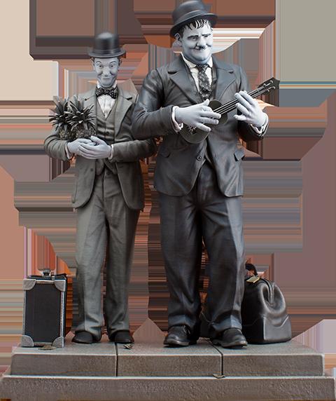 Infinite Statue Stan Laurel Oliver Hardy Honolulu Baby Statue