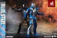 Gallery Image of Iron Man Mark XXX - Blue Steel Sixth Scale Figure