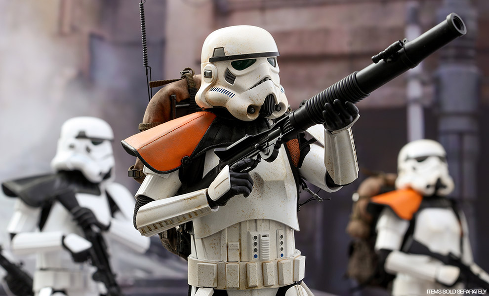 Gallery Feature Image of Stormtrooper Jedha Patrol TK-14057 Sixth Scale Figure - Click to open image gallery