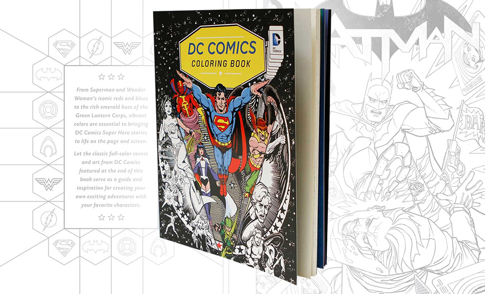 Gallery Feature Image of DC Comics Coloring Book Book - Click to open image gallery