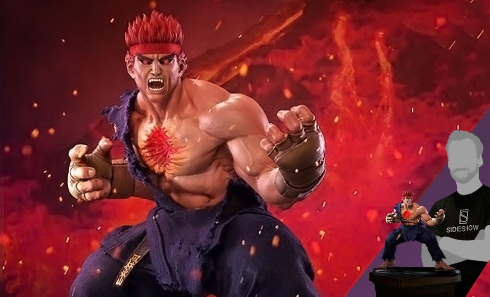 Gallery Feature Image of Evil Ryu Murderous Intent Statue - Click to open image gallery