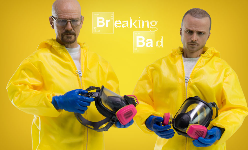 Gallery Feature Image of Heisenberg Jesse Hazmat Suit Combo Sixth Scale Figure - Click to open image gallery