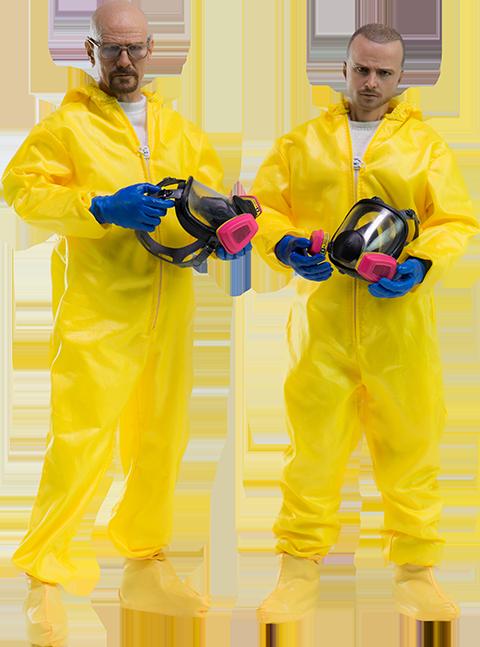 Threezero Heisenberg Jesse Hazmat Suit Combo Sixth Scale Figure