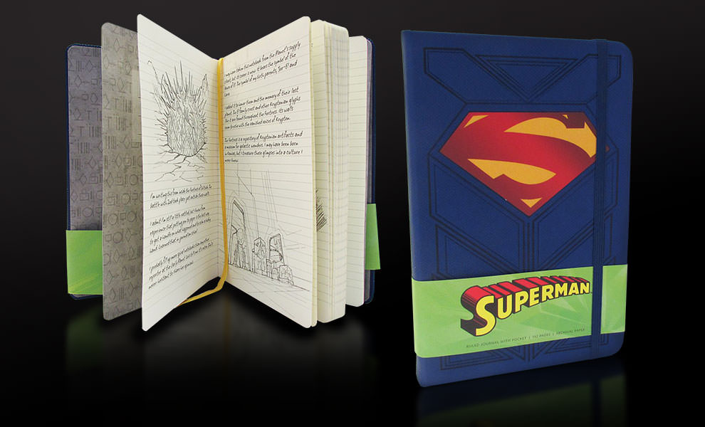 Gallery Feature Image of Superman Hardcover Ruled Journal Book - Click to open image gallery