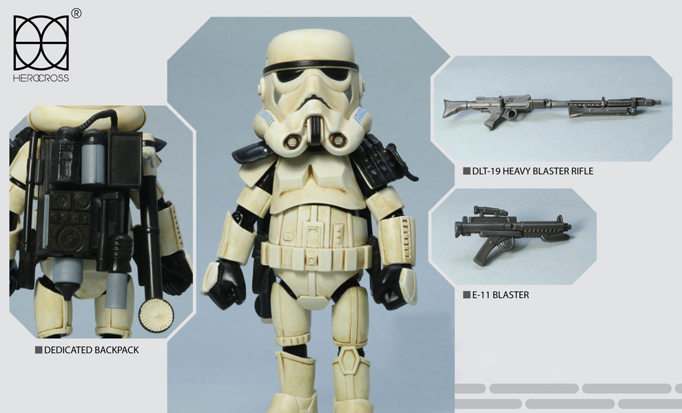 Gallery Feature Image of Sandtrooper with Black Pauldron Collectible Figure - Click to open image gallery