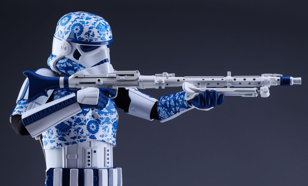 Gallery Feature Image of Stormtrooper Porcelain Pattern Version Sixth Scale Figure - Click to open image gallery