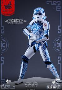 Gallery Image of Stormtrooper Porcelain Pattern Version Sixth Scale Figure