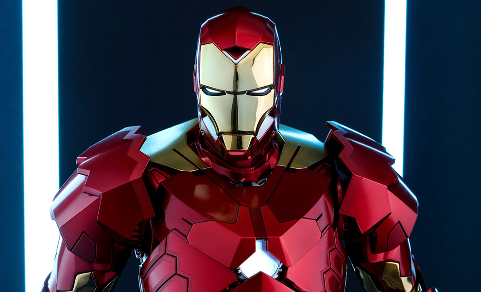 Gallery Feature Image of Iron Man Mark XV - Sneaky Retro Armor Version Sixth Scale Figure - Click to open image gallery