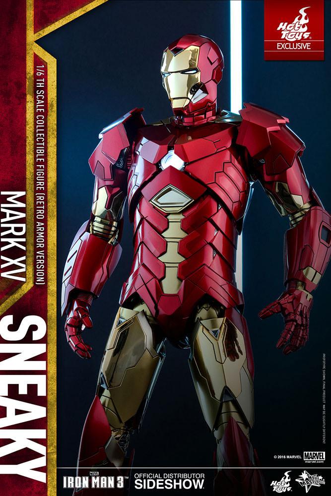 Marvel Iron Man Mark Xv Sneaky Retro Armor Version Sixth S