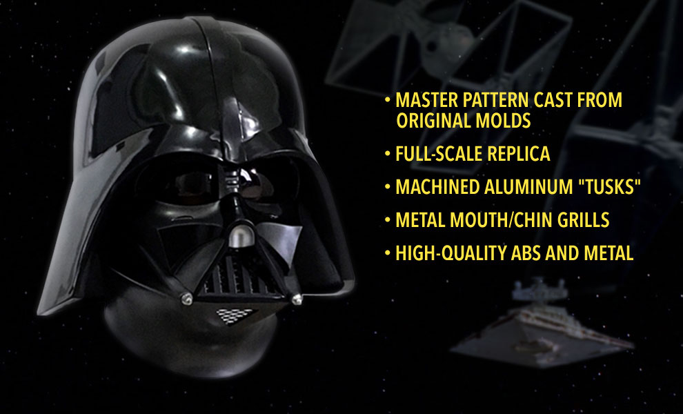 Gallery Feature Image of Darth Vader Helmet Prop Replica - Click to open image gallery