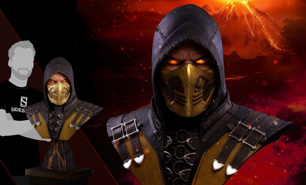 Gallery Feature Image of Scorpion Hellfire MKX Life-Size Bust - Click to open image gallery