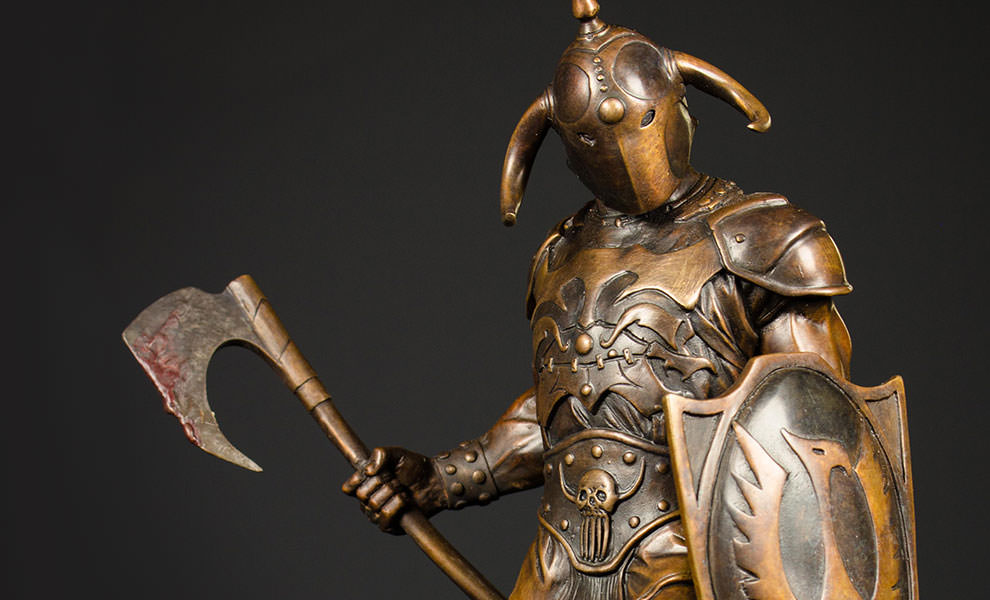 Gallery Feature Image of Death Dealer Faux Bronze Statue - Click to open image gallery