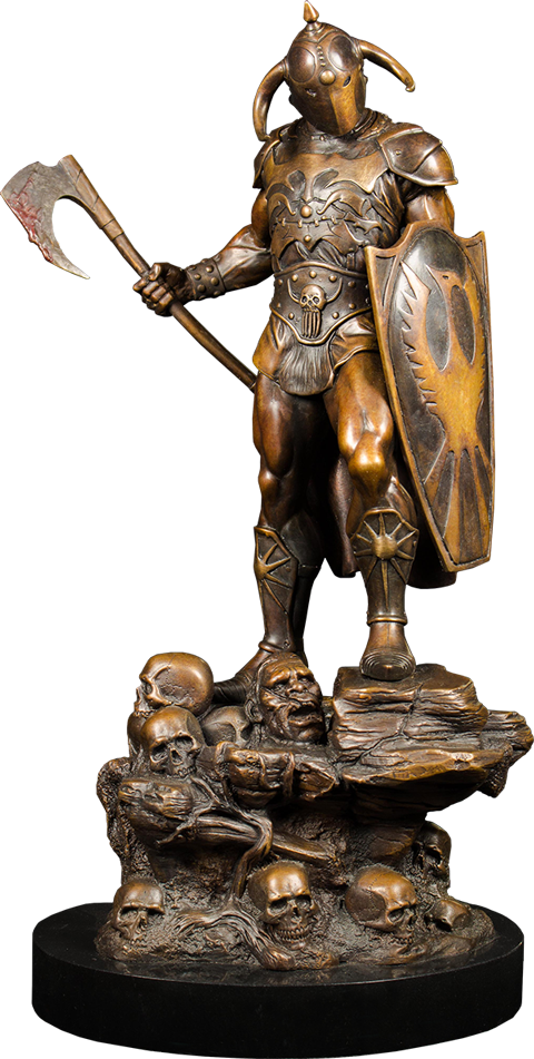 Quarantine Studio Death Dealer Faux Bronze Statue
