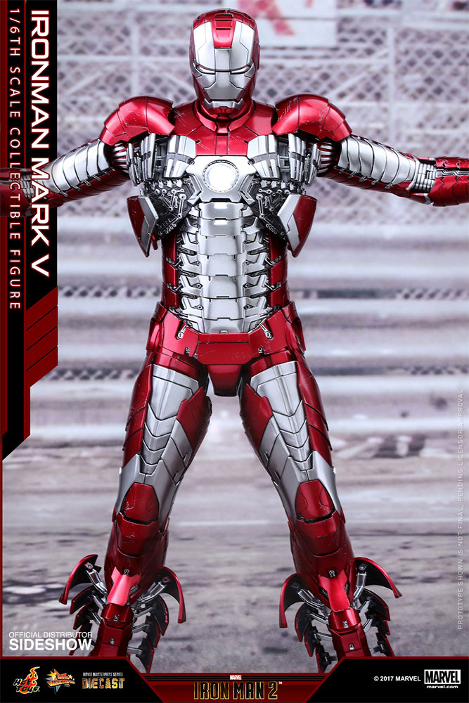 Marvel Iron Man Mark V Sixth Scale Figure by Hot Toys