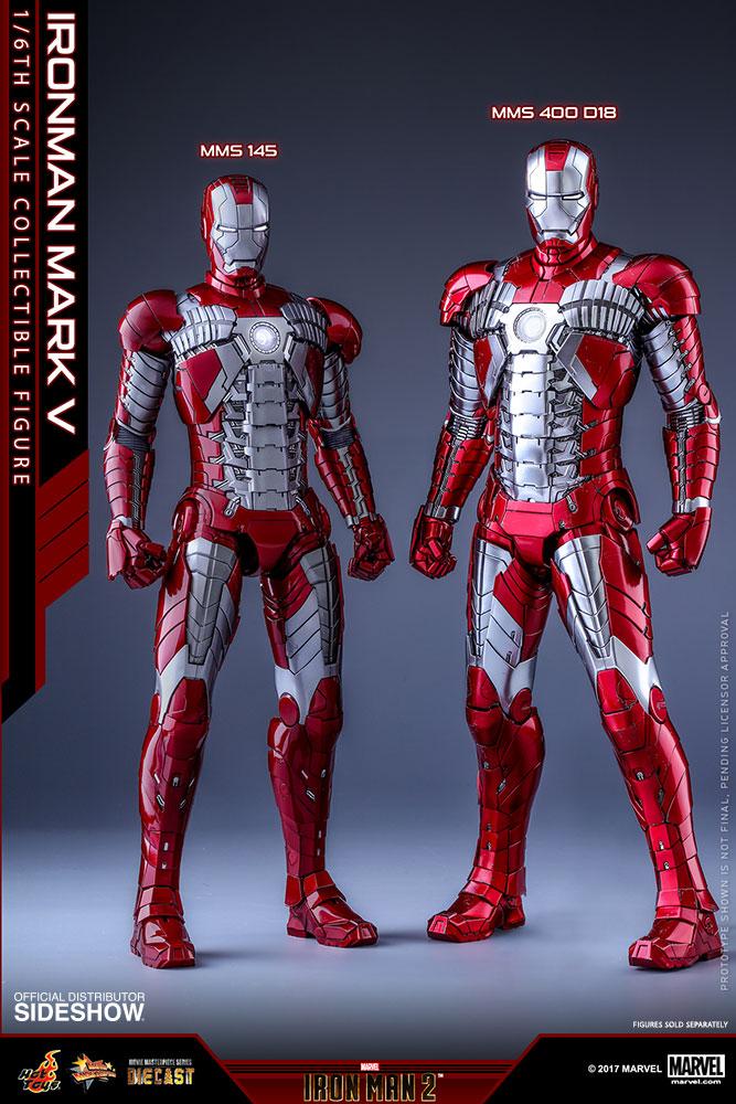 1//6 Scale Hot toys Iron Man 2 Ironman Mark V 5 Hand #3