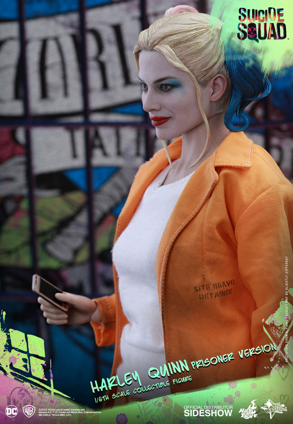 1//6 COFFEE CUP /& PHONE Hot Toys MMS407 Suicide Squad HARLEY QUINN Prisoner Ver