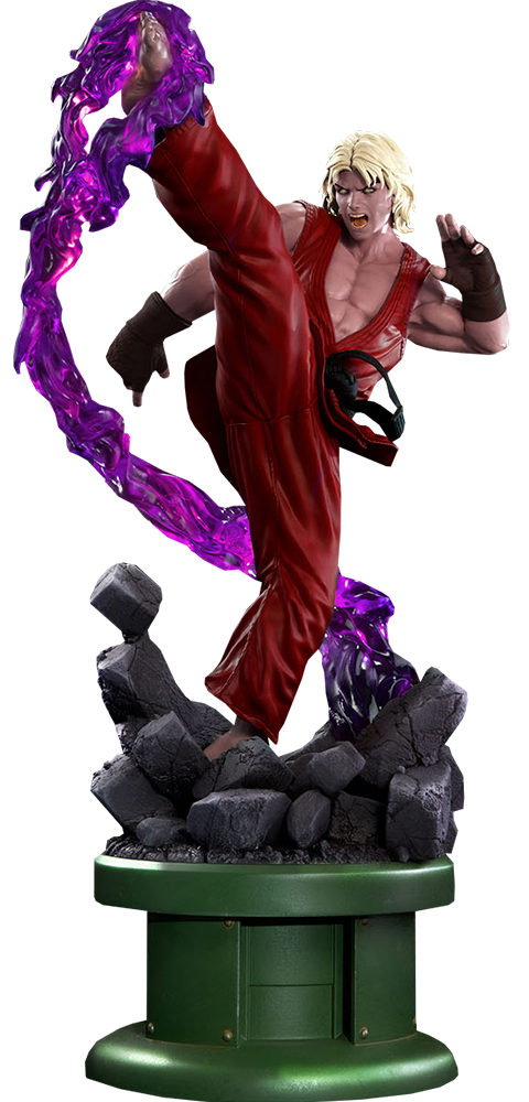 PCS Collectibles Ken Masters Violent Ken with Dragon Flame Statue