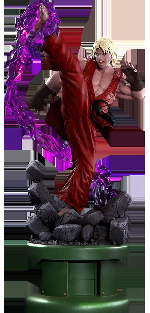 PCS Collectibles Ken Masters Violent Ken with Dragon Flame Statue